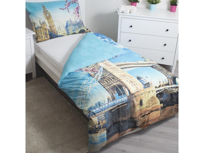 Londen Tower Bridge - Bettbezug - Einzel - 140 x 200 cm - Multi