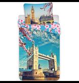 Londen Tower Bridge - Dekbedovertrek - Eenpersoons - 140 x 200 cm - Multi