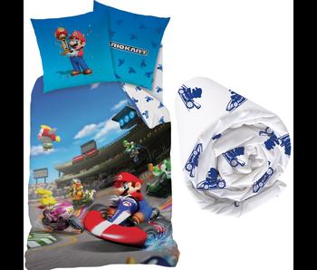 Super Mario Winner - Housse de couette - Simple - 140 x 200 cm - Multi - Drap housse compris