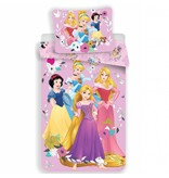 Disney Princess Pink - Housse de couette - Simple - 140 x 200 cm - Rose - Draps housse compris