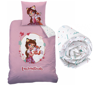 Enchantimals Felicity Fox - Duvet cover - Single - 140 x 200 cm - Multi - Including fitted sheet