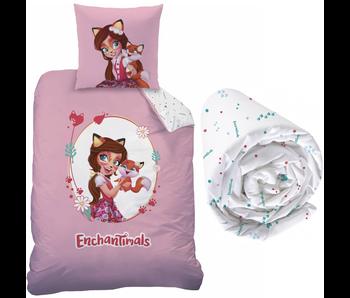 Enchantimals Felicity Fox - Housse de couette - Seul - 140 x 200 cm - Multi - Drap housse compris