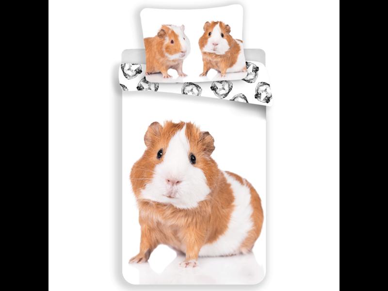 Animal Pictures Guinea Pig Duvet Cover - Single - 140x200 cm - White