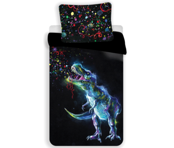 Dinosaurus Bettbezug Black 140x200 cm