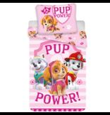 PAW Patrol Pup Power Dekbedovertrek - Eenpersoons - 140x200 cm - Roze