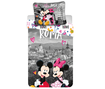 Disney Minnie Mouse Dekbedovertrek Roma Love 140x200 cm