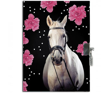Animal Pictures Dagboekje Paard Flowers