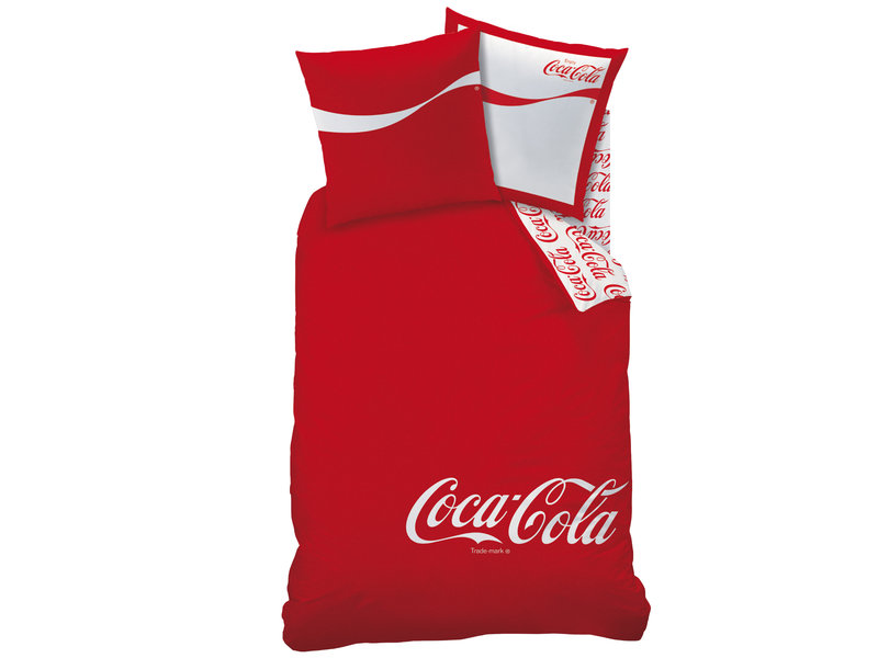 Coca Cola Housse de couette Denim - Double - 140 x 200 cm - Rouge