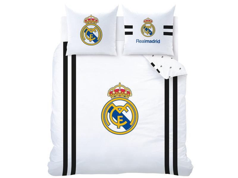 Real Madrid Maillot Housse de couette - Double - 240 x 220 cm - Blanc