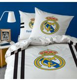 Real Madrid Maillot Dekbedovertrek - Eenpersoons - 140 x 200 cm - Wit