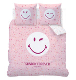 Smiley World Sunday Duvet cover - Double - 240 x 220 cm - Pink