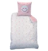 Smiley World Sunday Bettbezug - Single - 140 x 200 cm - Pink
