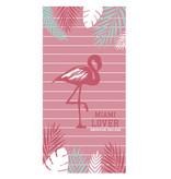 American College Flamingo - Serviette de plage - 75 x 150 cm - Rose