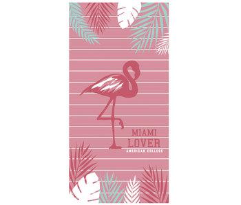 American College Strandlaken Flamingo 75 x 150 cm