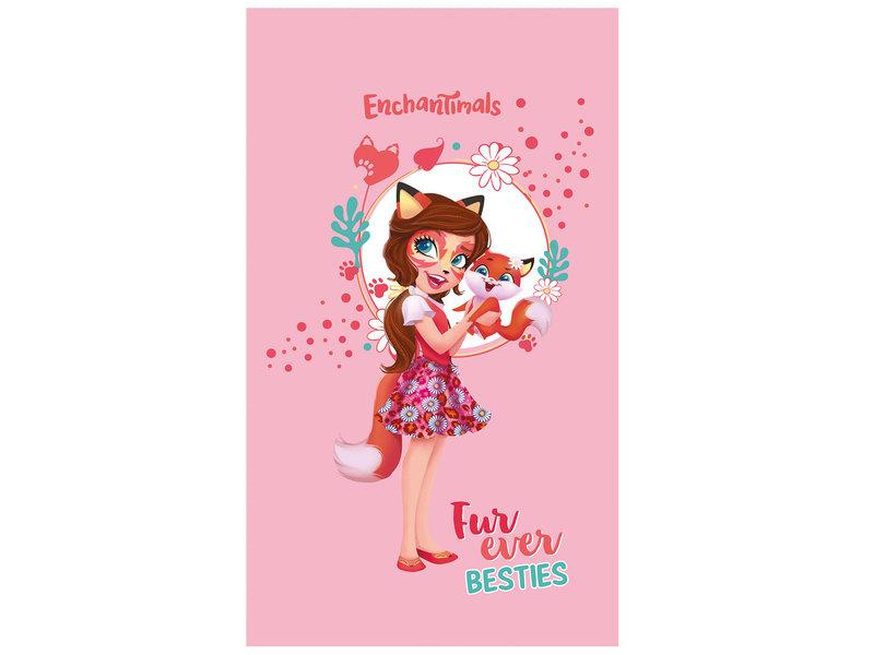 Enchantimals Fox - Strandlaken - 70 x 120 cm - Roze
