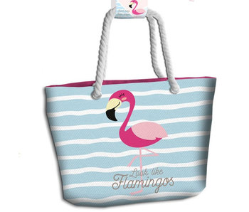Flamingo Strandtas Look Like Flamingos 44 cm