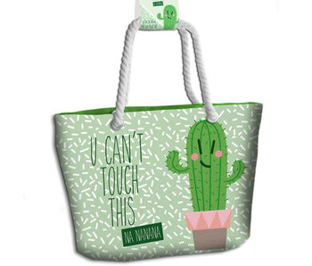Cactus Beach bag You Can't Touch This 44cm