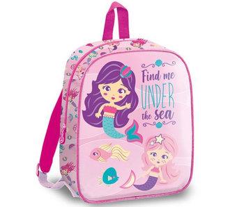 Zeemeermin Mini toddler / toddler backpack Under the Sea 29 cm