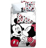 Disney Minnie Mouse Kiss - Dekbedovertrek - Eenpersoons - 140 x 200 cm - Polyester