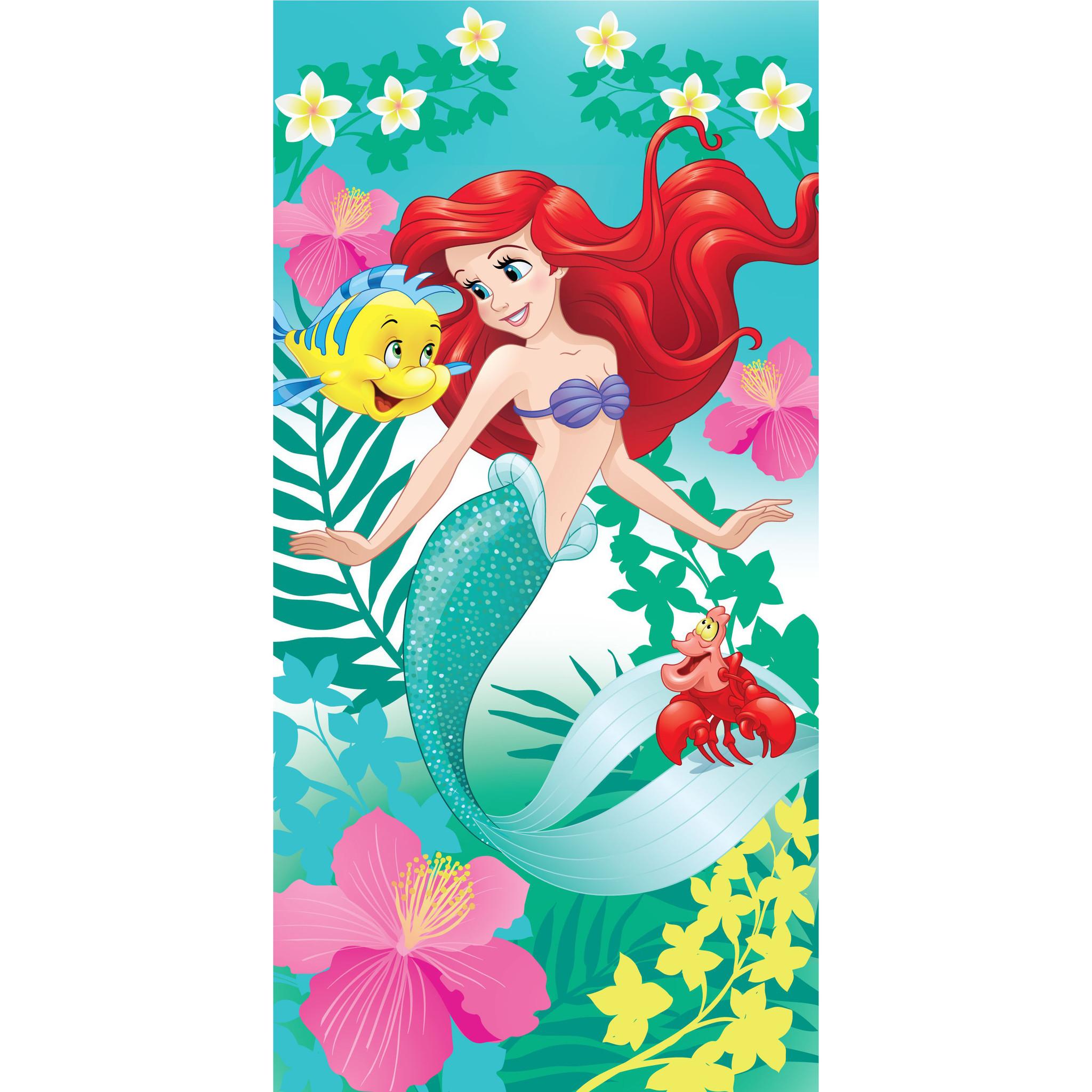 Drap housse Ariel la Petite Sirene Disney 90 x 200 cm 100/% coton
