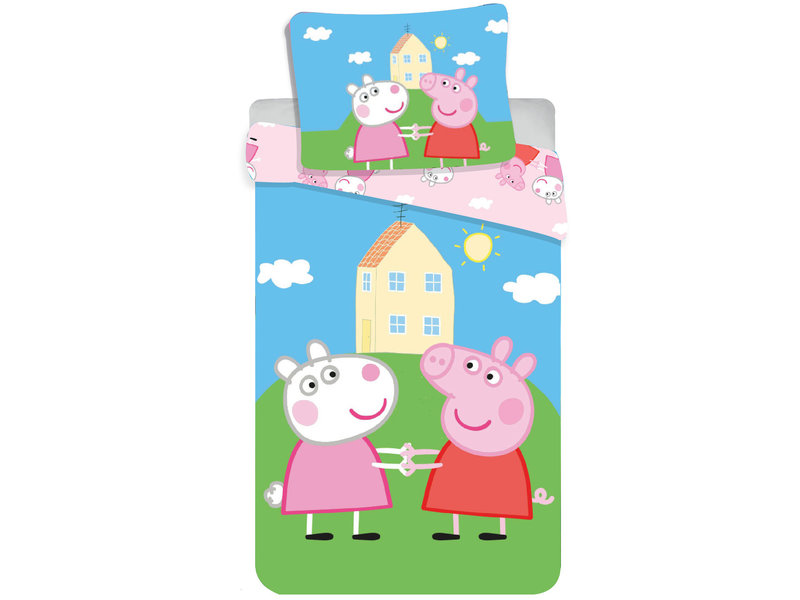 Peppa Pig Friends BABY Housse de couette - 100x135 cm - Multi