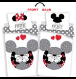 Disney Minnie Mouse Votre housse de couette Minnie / Mickey - Simple - 140 x 200 cm - Multi