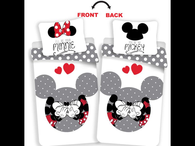 Disney Minnie Mouse Dein Minnie / Mickey Bettbezug - Single - 140 x 200 cm - Multi