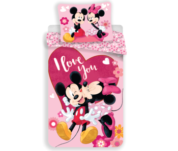 Disney Minnie Mouse Dekbedovertrek I Love You 140 x 200 cm