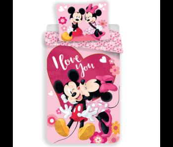 Disney Minnie Mouse Housse de couette je t'aime, 140 x 200 cm