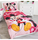 Disney Minnie Mouse I Love You - Housse de couette - Simple - 140 x 200 cm - Polyester