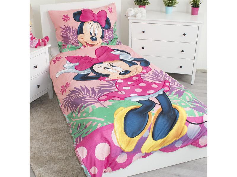 Disney Minnie Mouse Tropical - Housse de couette - Simple - 140 x 200 - Polyester
