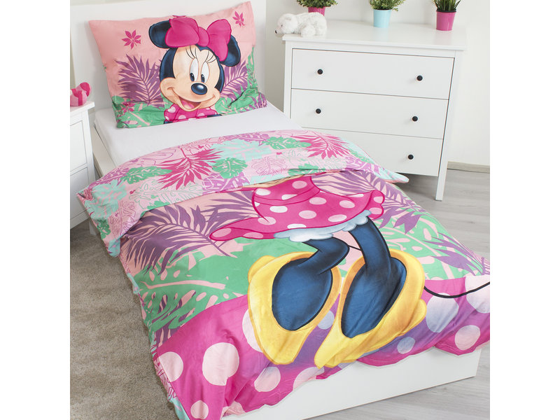 Disney Minnie Mouse Tropical - Duvet cover - Single - 140 x 200 - Polyester