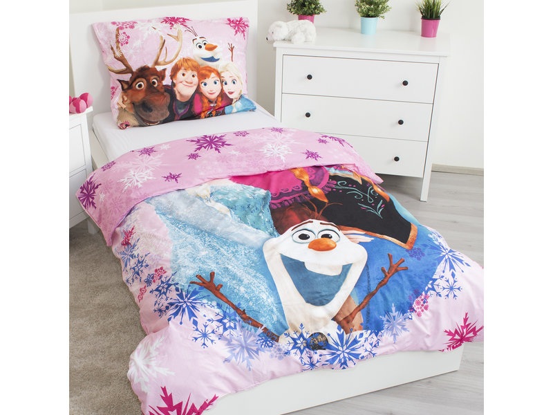 Disney Frozen 3 Friends - Duvet cover - Single - 140 x 200 cm - Polyester