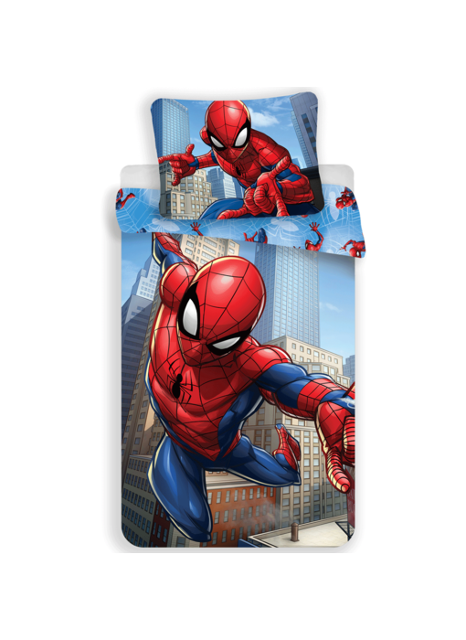SpiderMan Dekbedovertek City 140 x 200 cm