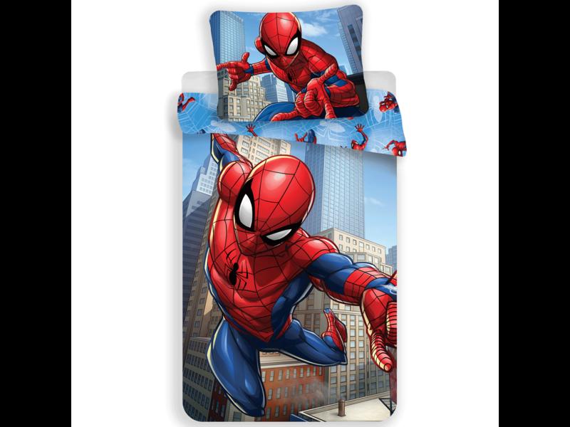Spider-Man City - Housse de couette - Simple - 140 x 200 cm - Polyester