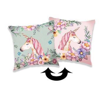 Unicorn Kussensloop Pailletten 40 x 40 cm