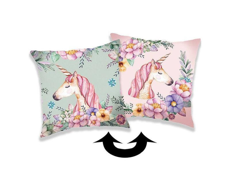 Unicorn Taie d'oreiller Paillettes - 40 x 40 cm - Multi
