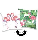 Flamingo Taie d'oreiller paillettes - 40 x 40 cm - Multi