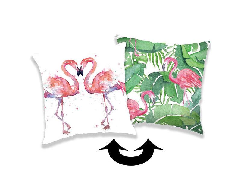 Flamingo Kissenbezug Pailletten - 40 x 40 cm - Multi