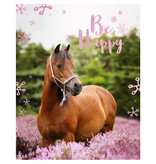 Animal Pictures Couverture en flanelle douce, cheval - 120 x 150 cm - Multi