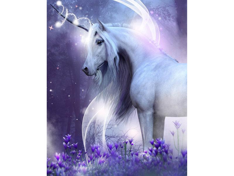 Unicorn Couverture en flanelle douce - 120 x 150 cm - Multi