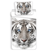Animal Pictures White Tiger - Housse de couette - Seul - 140 x 200 cm - Blanc