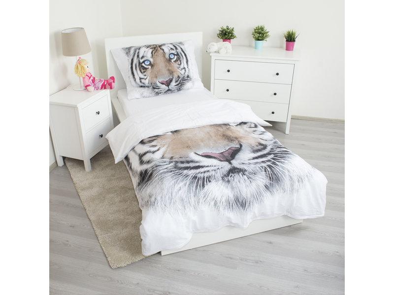 Animal Pictures White Tiger - Bettbezug - Einzel - 140 x 200 cm - Weiß