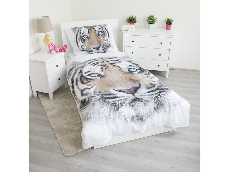 Animal Pictures White Tiger - Duvet Cover - Single - 140 x 200 cm - White