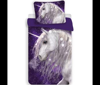 Unicorn Housse de couette violet 140x200 cm