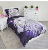 Unicorn Unicorn - Duvet cover - Single - 140 x 200 cm - Purple