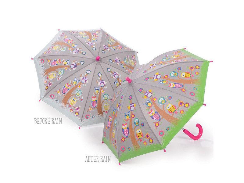 Floss & Rock Owls and Trees - Umbrella - Changes color!