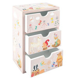 Floss & Rock Chest of drawers Forest - 16 x 11 x 7 cm - Pink