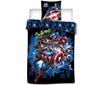Marvel Avengers Dekbedovertrek Fight 140 x 200 cm Polyester