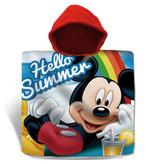 Disney Mickey Mouse Bonjour l'été - Poncho - 60 x 120 cm - Multi